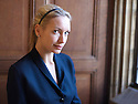 Lisa Hilton, author, biographer ,novelist and writer  at The Oxford Literary Festival at Christchurch College Oxford  . Credit Geraint Lewis