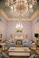Raj Mahal luxury boutique hotel. Jaipur, Rajasthan, Northern India, India