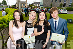 Klaudia Rzeznik, Angelika Strosz, Yanting Wang and Richards Ancevskis, pictured at Mounthawk Secondary School, Tralee, graduation Mass at Our Lady & St. Brendan's Church, Tralee on Friday afternoon last.