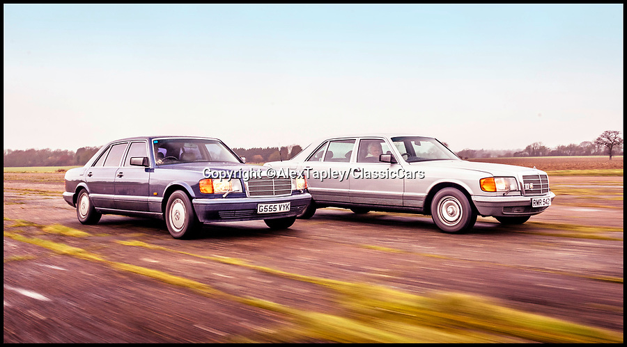 """BNPS.co.uk (01202 558833)Pic: AlexTapley/ClassicCars/BNPS<br /> <br /> A pair of vintage Mercedes belonging to Rolling Stones founder member Bill Wyman have emerged for sale for over £30,000.<br /> <br /> The 560 SEL and the 500 SEL saloon cars have been with the legendary rocker for several years and he even bought the 560 from his bandmate Mick Jagger.<br /> <br /> He has decided to part with the vehicles with a heavy heart as he says they are 'wasted' sitting in his garage.<br /> <br /> They are to sell with Omega Auctions of Newton-Le-Willows, Merseyside, who say the cars have a real 'rock star pedigree'.<br /> <br /> The 560 was bought by Wyman in 1993 when he purchased it from Jagger, who had himself owned it for three years.<br /> <br /> He sensationally quit the band later that year and used the classy saloon on his daily commute to and from his lavish home in Vence, France.<br /> <br /> The 1990 model has 136,000 miles on the clock, 40,000 of which were put on by Jagger.<br /> <br /> Wyman says that he actually owes his life to the four-door's build quality, as on one occasion his driver fell asleep at the wheel, ploughing into a motorway barrier.<br /> <br /> It has a stunning blue body, cream leather interior and celebrity-friendly tinted windows.<br /> <br /> It is powered by a whopping V12 engine but has spent most of its recent years going unused in Wyman's garage.<br /> <br /> Speaking about the German classic, the guitarist said: """"I was forever grateful for my decision to buy it, as it was a dream to drive the 14/15 hours from London to France regularly.""""<br /> <br /> The 560 SEL was bought by Wyman to replace the other Mercedes he has now decided to sell - a 1982 500 SEL.<br /> <br /> The 81-year-old has owned the car since new and covered around 115,000 miles in it, but it is now set to go under the hammer for up to £12,000.<br /> <br /> He says that back in the eighties the vehicle actually caused him several problems - mainly because obsessed fan"""