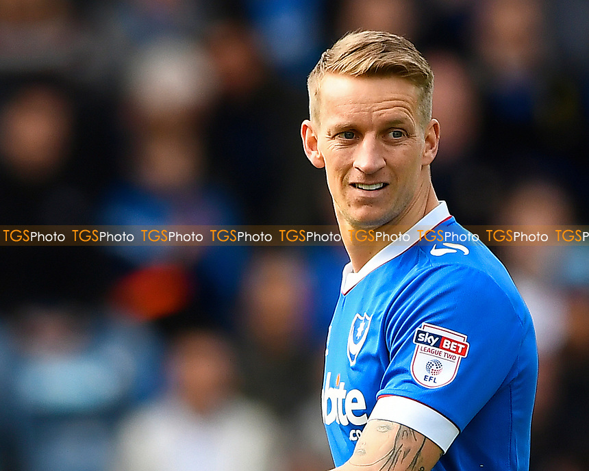 Carl Baker of Portsmouth during Portsmouth vs Plymouth Argyle, Sky Bet EFL League 2 Football at Fratton Park on 14th April 2017