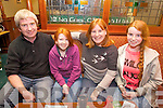 John, Niamh Vicky and Rachel O'Regan enjoying the Tralee Pitch and Putt Table Quiz in Na Gaeil Clubhouse on Friday