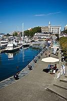Harbor walkay, Victoria, British Columbia, Canada