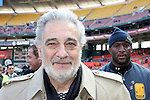 18 November 2007: Placido Domingo before singing the U.S. national anthem. The Houston Dynamo defeated the New England Revolution 2-1 at RFK Stadium in Washington, DC in MLS Cup 2007, Major League Soccer's championship game.