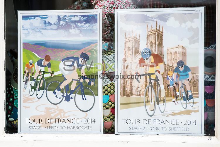 Picture by Allan McKenzie/SWpix.com -  05/07/2014 - Cycling - Tour de France 2014 Grand Depart - Stage 1, Leeds to Harrogate - Yorkshire, England - Tour De France Ilkley shop window displays.