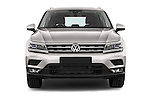 Car photography straight front view of a 2017 Volkswagen Tiguan Comfortline 5 Door Suv Front View