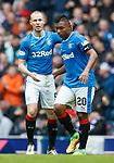07.04.2018 Rangers v Dundee:<br /> Kenny Miller and Alfredo Morelos