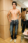 Model poses in Forest Jeans, at the Domenico Vacca Denim Launch Party presented by Models International on July 14, 2010.