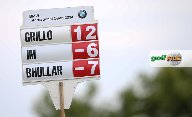 Emiliano Grillo (ARG) sinks a birdie on the 17th to join the leaders on -12 during Round Two of the BMW International Open 2014 from Golf Club Gut Lärchenhof, Pulheim, Köln, Germany. Picture:  David Lloyd / www.golffile.ie