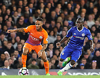 N'Golo Kante of Chelsea and Raheem Sterling of Manchester City during the Premier League match between Chelsea and Manchester City at Stamford Bridge on April 5th 2017 in London, England.<br /> Foto PHC Images / Panoramic / Insidefoto <br /> ITALY ONLY
