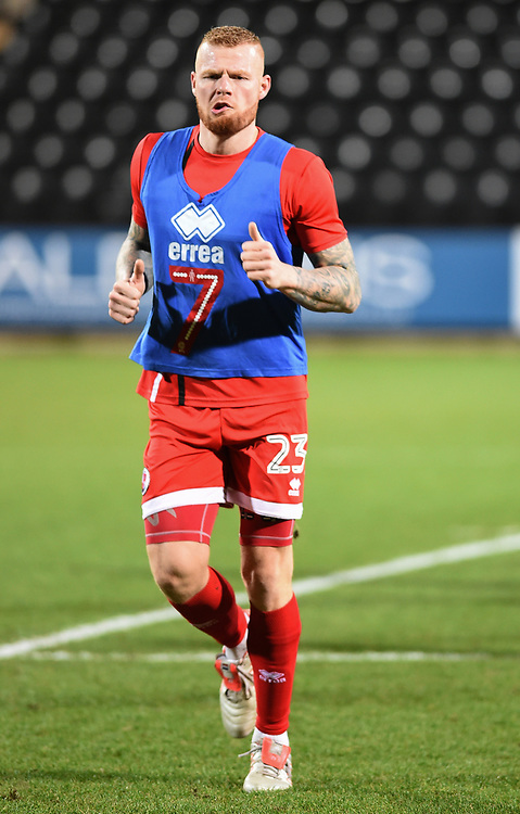 Crawley Town&rsquo;s Thomas Verheydt during the pre-match warm-up <br /> <br /> Photographer Jon Hobley/CameraSport<br /> <br /> The EFL Sky Bet League Two - Notts County v Crawley Town - Tuesday 23rd January 2018 - Meadow Lane - Nottingham<br /> <br /> World Copyright &copy; 2018 CameraSport. All rights reserved. 43 Linden Ave. Countesthorpe. Leicester. England. LE8 5PG - Tel: +44 (0) 116 277 4147 - admin@camerasport.com - www.camerasport.com