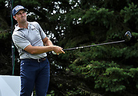 26th July 2020, Blaine, MN, USA;  Michael Thompson watches his tee shot on hole number two during the final round of the 3M Open golf tournament at TPC Twin Cities in Blaine, Minnesota