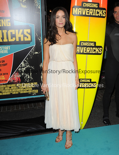 Abigail Spencer attends Twentieth Century Fox Special Screening of Chasing Mavericks held at The Pacific Grove Stadium 14 in Los Angeles, California on October 18,2012                                                                               © 2012 DVS / Hollywood Press Agency