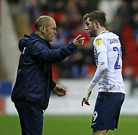 Preston North End manager Alex Neil gives instructions to Tom Barkhuizen<br /> <br /> Photographer David Shipman/CameraSport<br /> <br /> The EFL Sky Bet Championship - Rotherham United v Preston North End - Tuesday 1st January 2019 - New York Stadium - Rotherham<br /> <br /> World Copyright © 2019 CameraSport. All rights reserved. 43 Linden Ave. Countesthorpe. Leicester. England. LE8 5PG - Tel: +44 (0) 116 277 4147 - admin@camerasport.com - www.camerasport.com