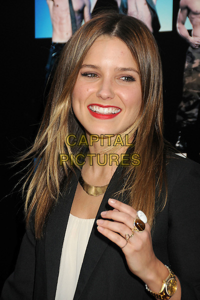 "Sophia Bush.""Magic Mike"" Los Angeles Film Festival 2012 Premiere held at Regal Cinemas LA Live, Los Angeles, California, USA..June 24th, 2012.headshot portrait black red lipstick hand gold ring wristwatch watch necklace .CAP/ADM/BP.©Byron Purvis/AdMedia/Capital Pictures."