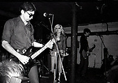 BLONDIE - L-R: Chris stein, Debbie Harry, FrankInfante  - performing live at Dingwalls in Camden London UK - 24 Jan 1978.  Photo credit: George Bodnar Archive/IconicPix