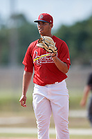 St. Louis Cardinals pitcher Derian Gonzalez during a Minor League Spring Training game against the Miami Marlins on March 26, 2018 at the Roger Dean Stadium Complex in Jupiter, Florida.  (Mike Janes/Four Seam Images)