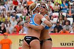 31.05.2015, Moskau, Vodny Stadion<br /> Moskau Grand Slam, Main Draw / Finale<br /> <br /> Jubel Madelein Meppelink (#2 NED), Marleen van Iersel (#1 NED)<br /> <br />   Foto &copy; nordphoto / Kurth