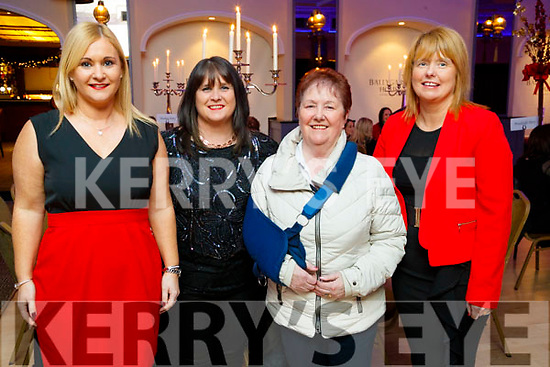Joanne Downey, Caitriona O'Connell, Kathleen O'Sullivan and Aileen McCarthy, all from Castleisland,   enjoying Women's Christmas at Ballygarry House Hotel and Spa, Tralee, on Saturday night last.