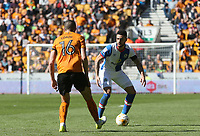Blackburn Rovers' Derrick Williams and Wolverhampton Wanderers' Conor Coady<br /> <br /> Photographer Rachel Holborn/CameraSport<br /> <br /> The EFL Sky Bet Championship - Wolverhampton Wanderers v Blackburn Rovers - Saturday 22nd April 2017 - Molineux - Wolverhampton<br /> <br /> World Copyright &copy; 2017 CameraSport. All rights reserved. 43 Linden Ave. Countesthorpe. Leicester. England. LE8 5PG - Tel: +44 (0) 116 277 4147 - admin@camerasport.com - www.camerasport.com