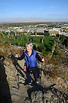 Woman hiking Museum Trail