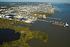 AErial view of Chester Refinery facility on the Delaware River