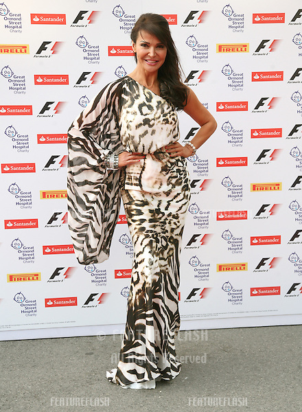 Lizzie Cundy attending the F1 Party, at the Natural History Museum, London. 06/07/2011  Picture by: Alexandra Glen / Featureflash