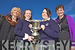 FINALISTS: Two Presentation Tralee studens have made the final of the Soroptimist National Girls Public speaking Competition 2010 which will be held in the Meadowlands Hotel this Saturday. From l-r were: Mena Nolan, Kateanne O'Connor, Claire Hand and Brid Prenderville.
