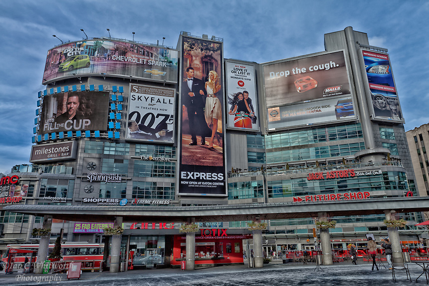 A view of Toronto's Dundas Square.