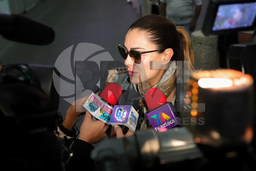 CIDADE DO MEXICO, MEXICO, 28.29.2019 - CELEBRIDADE-MEX - Ninel Herrera Conde é uma atriz, cantora e dançarina mexicana. Ficou conhecida no Brasil por interpretar Alma Rey na telenovela mexicana Rebelde, em 2004 é vista no aeroporto da cidade do México neste sábado, 28. (Foto: William Volcov/Brazil Photo Press)