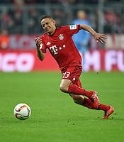 FUSSBALL  1. BUNDESLIGA  SAISON 2015/2016  24. SPIELTAG FC Bayern Muenchen - 1. FSV Mainz 05       02.03.2016 Rafinha (FC Bayern Muenchen) am Ball