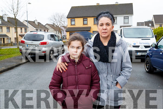 Keeley Coffey and Nora Coffey who were left homeless after a house fire in Fountain Court on Thursday.