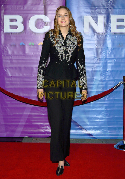 LEELEE SOBIESKI.2005 NBC Winter TCA All-Star Party held at the Hard Rock Cafe, Universal City, California, USA, .21 January 2005..full length black jacket beaded.Ref: ADM.www.capitalpictures.com.sales@capitalpictures.com.©JWong/AdMedia/Capital Pictures .