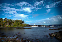 Hawaiian landscapes from forested areas, coastal scenes, beautiful beaches, sunrise and sunsets along the coast, beautiful vistas, scenic bays, valleys and mountain views.