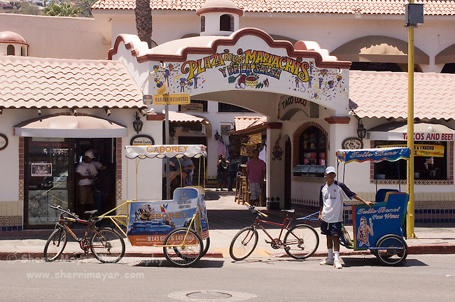 Pedi Cabs in front of the Plaza de Mariachis, Cabo San Lucas, Baja California, Mexico
