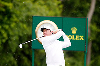 Rory McIlroy (NIR) tees off on the 11th hole during the Wednesday practice round of the 118th U.S. Open Championship at Shinnecock Hills Golf Club in Southampton, NY, USA. 13th June 2018.<br /> Picture: Golffile | Brian Spurlock<br /> <br /> <br /> All photo usage must carry mandatory copyright credit (&copy; Golffile | Brian Spurlock)