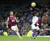 Burnley's Jay Rodriguez (left) and Crystal Palace's Jeffrey Schlupp<br /> <br /> Photographer Rich Linley/CameraSport<br /> <br /> The Premier League - Burnley v Crystal Palace - Saturday 30th November 2019 - Turf Moor - Burnley<br /> <br /> World Copyright © 2019 CameraSport. All rights reserved. 43 Linden Ave. Countesthorpe. Leicester. England. LE8 5PG - Tel: +44 (0) 116 277 4147 - admin@camerasport.com - www.camerasport.com