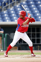 July 10, 2009:  Shortstop Freddy Galvis of the GCL Phillies during a game at Bright House Networks Field in Clearwater, FL.  Galvis was on a rehab assignment from the Clearwater Threshers.  The GCL Phillies are the Gulf Coast Rookie League affiliate of the Philadelphia Phillies.  Photo By Mike Janes/Four Seam Images