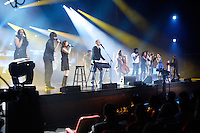 Montreal  (Quebec) CANADA - Nov 2011 File Photo - Le Show du refuge, with Dan Bigras and guest<br />  -