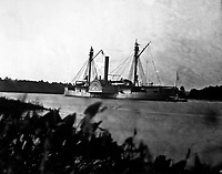 Gunboat Mendota on James River, August 1864.  Mathew Brady Collection.  (Army)<br /> Exact Date Shot Unknown<br /> NARA FILE #:  111-B-296<br /> WAR &amp; CONFLICT BOOK #:  191