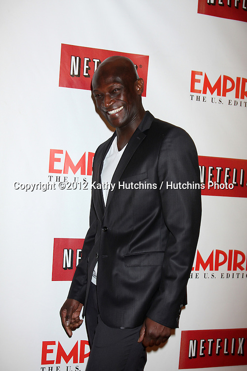 LOS ANGELES - OCT 2:  Peter Mensah arrives at the Empire US for iPad Launch at Sunset Tower Hotel on October 2, 2012 in West Hollywood, CA