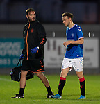26.08.2019 Rangers Colts v Partick Thistle: Brandon Barker injured