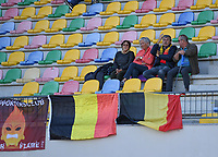 20200304  Parchal , Portugal : Belgian fans and supporters pictured during the female football game between the national teams of New Zealand , known as the Football Ferns and Belgium called the Red Flames on the first matchday of the Algarve Cup 2020 , a prestigious friendly womensoccer tournament in Portugal , on wednesday 4 th March 2020 in Parchal , Portugal . PHOTO SPORTPIX.BE   DAVID CATRY