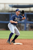 Tampa Bay Rays third baseman Grant Kay (92) during an Instructional League game against the Minnesota Twins on September 16, 2014 at Charlotte Sports Park in Port Charlotte, Florida.  (Mike Janes/Four Seam Images)