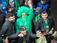The fans congregate outside the players dressing rooms chanting for their team during Pakistan vs Sri Lanka, ICC World Cup Cricket at the Bristol County Ground on 7th June 2019