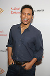 """Aasif Mandvi attends the Photo Call for  """"Sakina's Restaurant"""" on September 20, 2018 at Feinstein's/54 Below in New York City."""