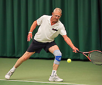 August 22, 2014, Netherlands, Amstelveen, De Kegel, National Veterans Championships, Mickael van Berkel<br /> Photo: Tennisimages/Henk Koster