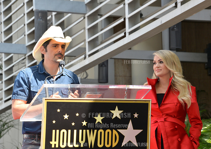 LOS ANGELES, CA. September 20, 2018: Brad Paisley &amp; Carrie Underwood at the Hollywood Walk of Fame Star Ceremony honoring singer Carrie Underwood.<br /> Pictures: Paul Smith/Featureflash