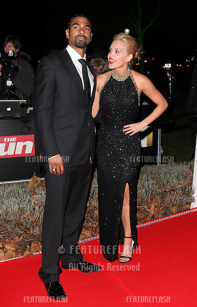 Ashley Roberts and David Hayes arriving for The Sun Military Awards, at The Imperial War Museum, London. 06/12/2012 Picture by: Alexandra Glen / Featureflash