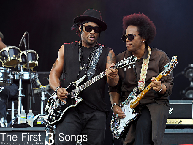 D'Angelo (real name Michael Archer) performs during Day 1 of the Made in America Music Fesival in Philadelphia, Pennsylvania.